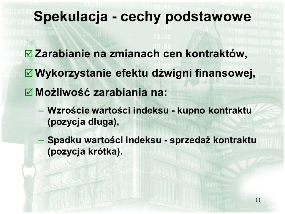 Spekulacja - cechy podstawowe