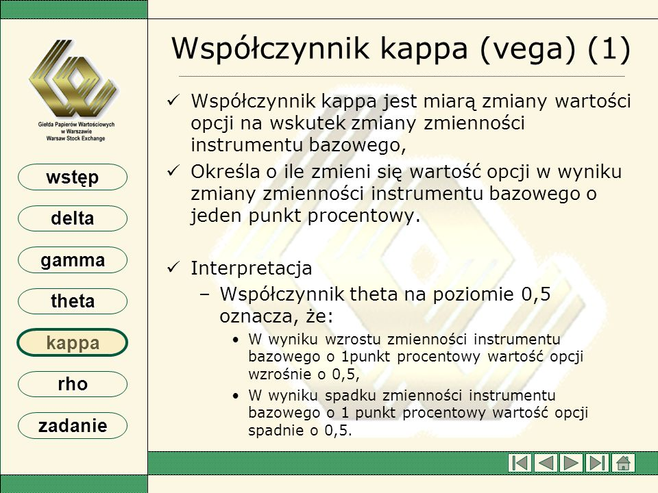 Współczynnik kappa (vega) (1)
