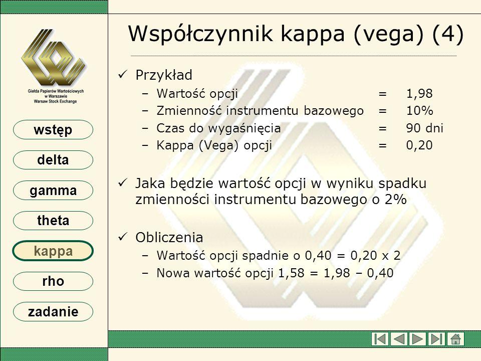 Współczynnik kappa (vega) (4)