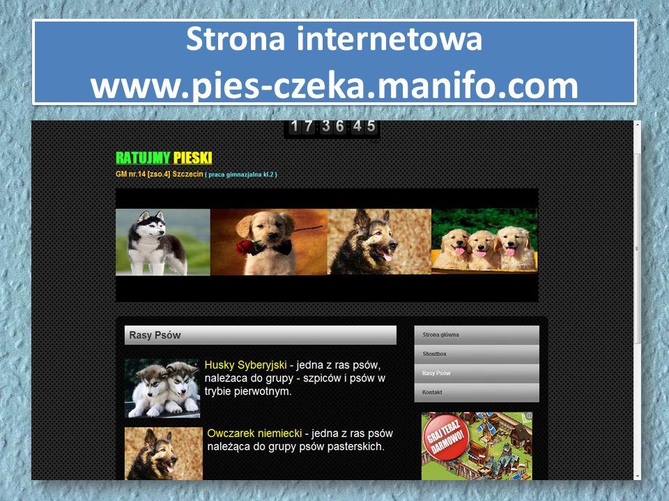 Strona internetowa www.pies-czeka.manifo.com