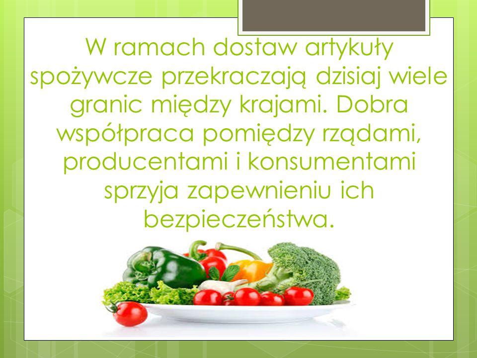 W ramach dostaw artykuły spożywcze przekraczają dzisiaj wiele granic między krajami.