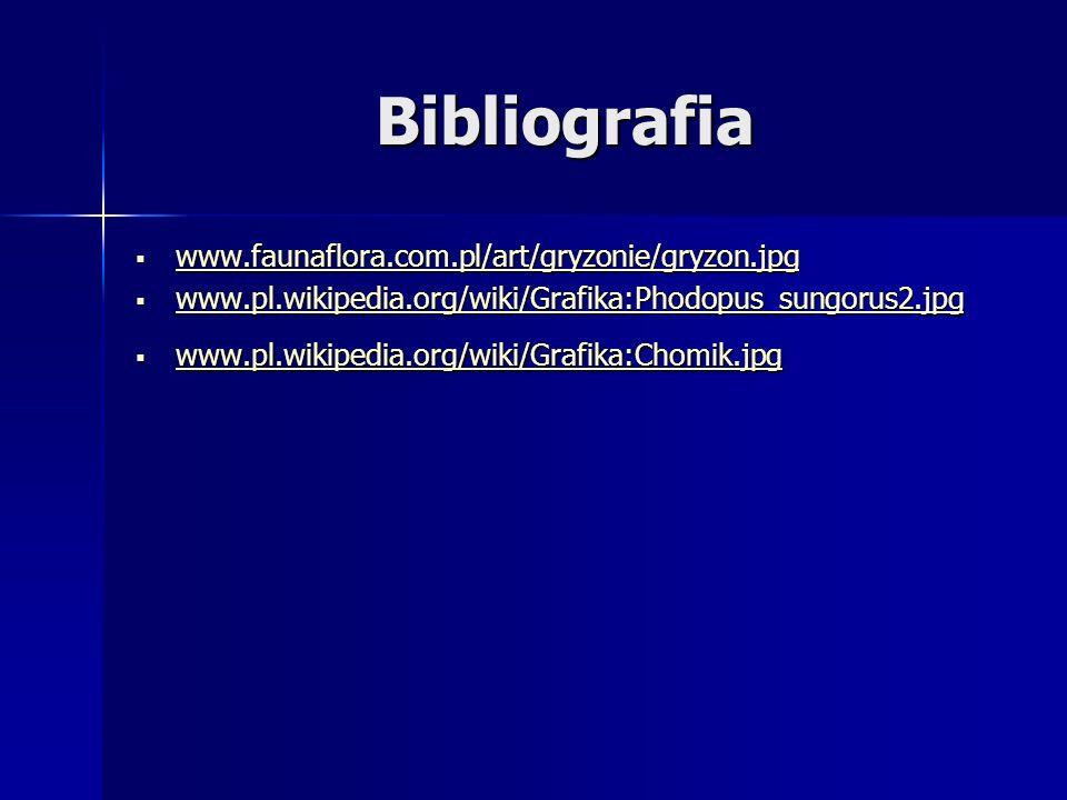 Bibliografia www.faunaflora.com.pl/art/gryzonie/gryzon.jpg