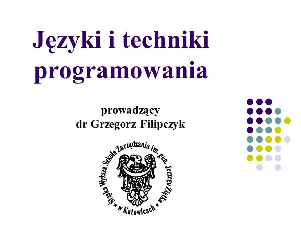 Języki i techniki programowania