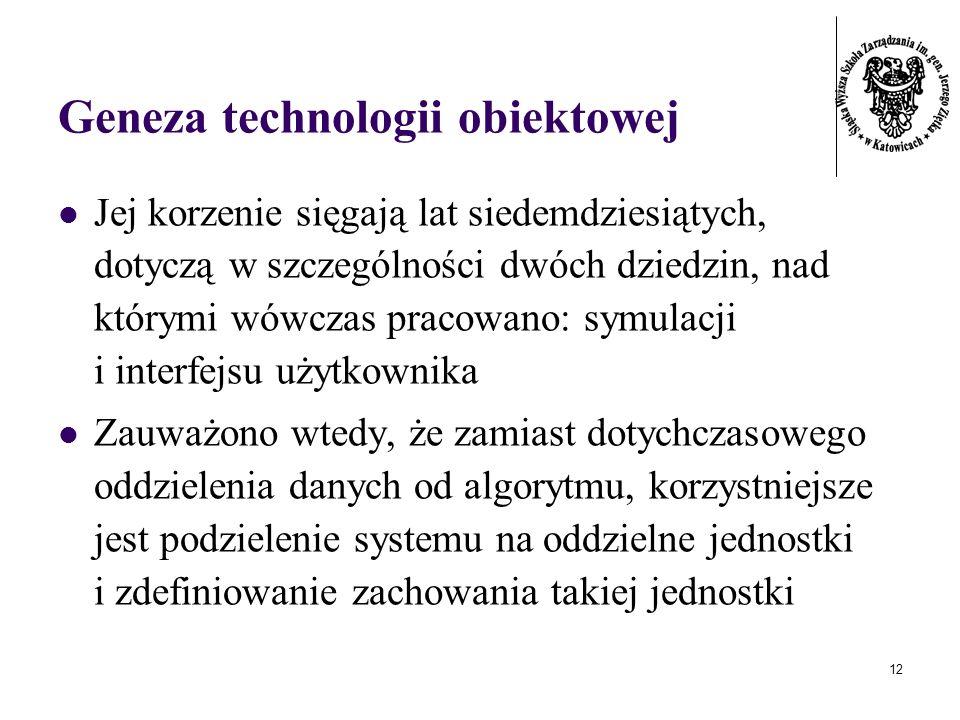 Geneza technologii obiektowej