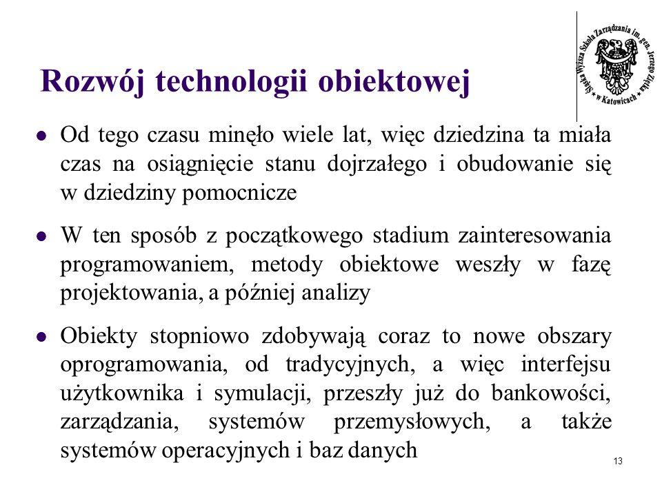 Rozwój technologii obiektowej