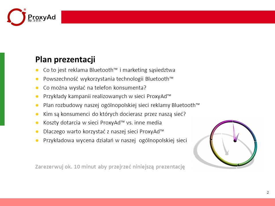 Plan prezentacji ProxyAd