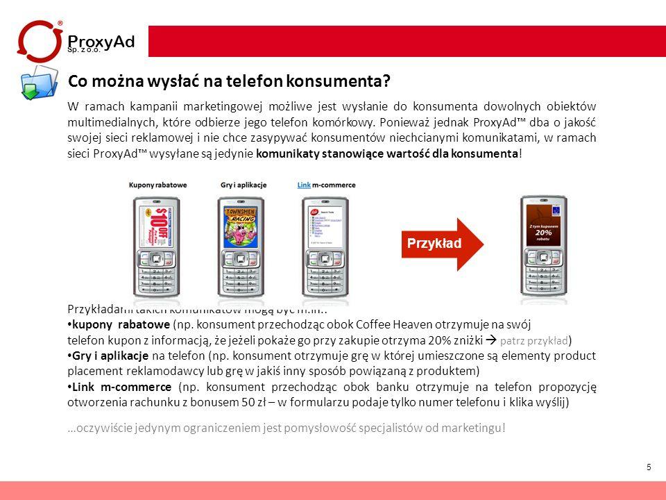 Co można wysłać na telefon konsumenta