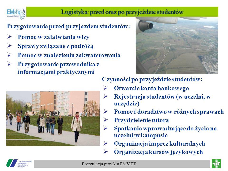 Logistyka: przed oraz po przyjeździe studentów