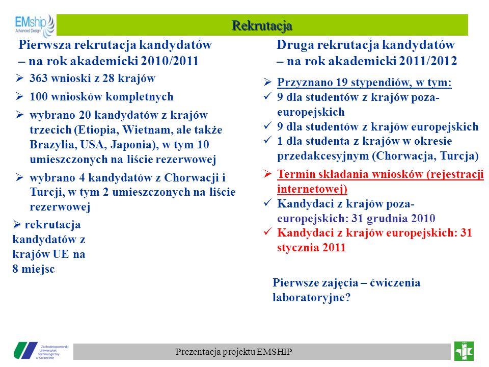 Pierwsza rekrutacja kandydatów – na rok akademicki 2010/2011