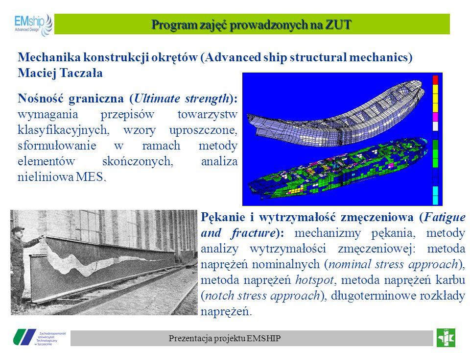 Program zajęć prowadzonych na ZUT
