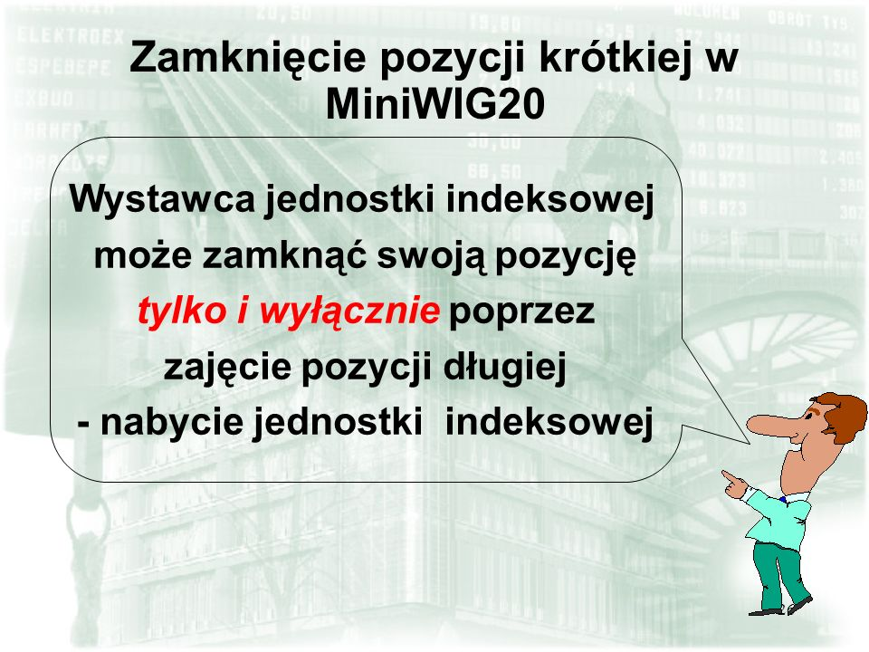 Zamknięcie pozycji krótkiej w MiniWIG20