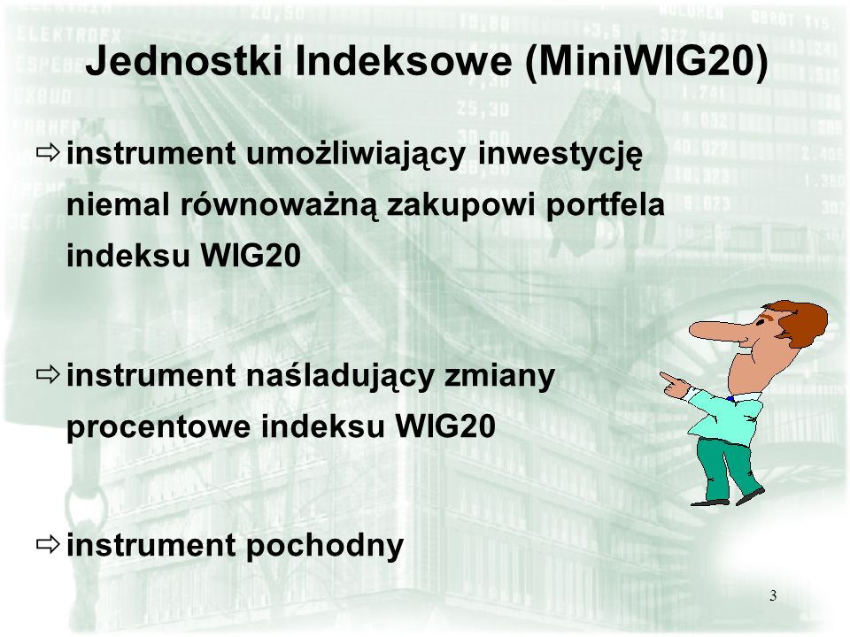 Jednostki Indeksowe (MiniWIG20)