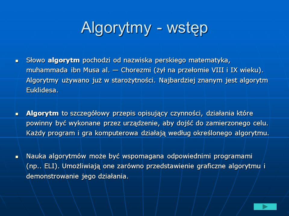 Algorytmy - wstęp
