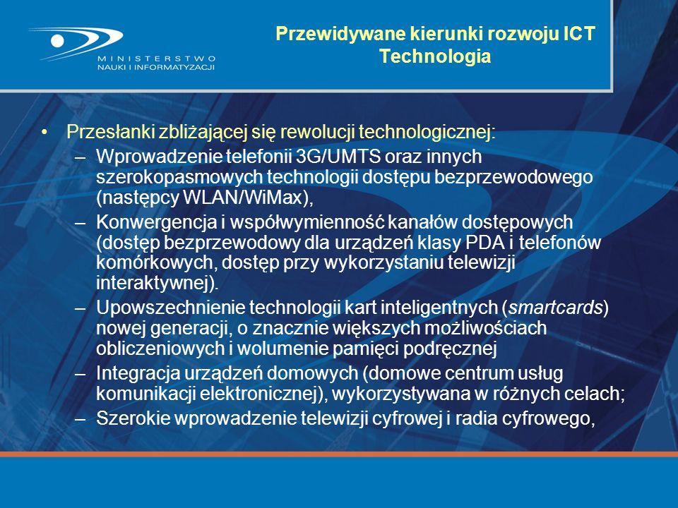 Przewidywane kierunki rozwoju ICT Technologia