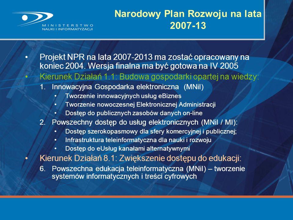 Narodowy Plan Rozwoju na lata 2007-13