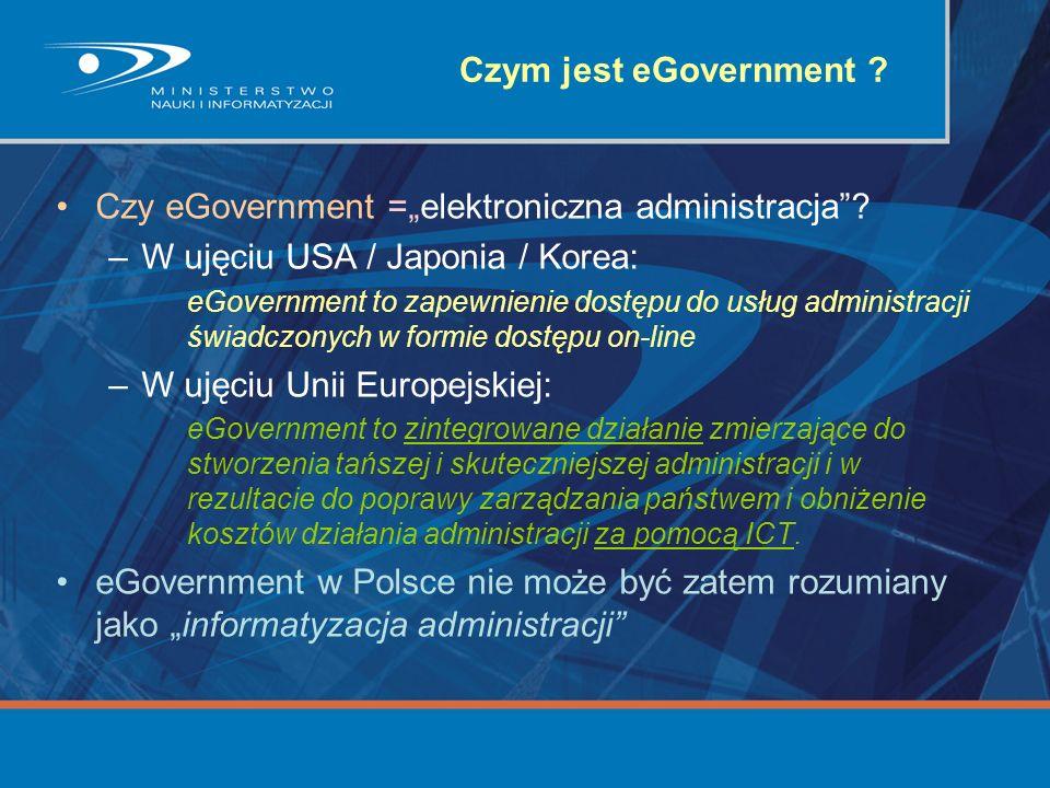 """Czy eGovernment =""""elektroniczna administracja"""