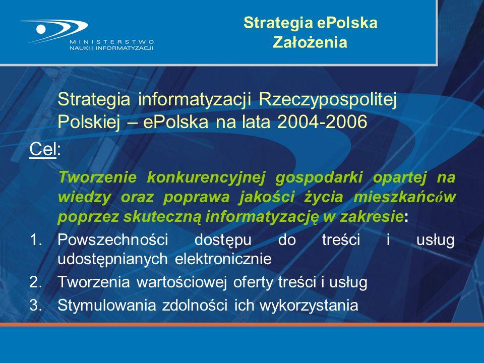 Strategia ePolska Założenia