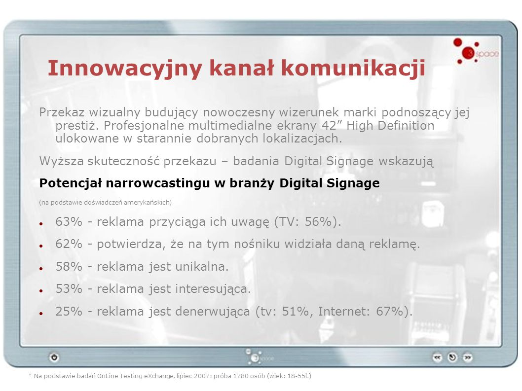 Innowacyjny kanał komunikacji