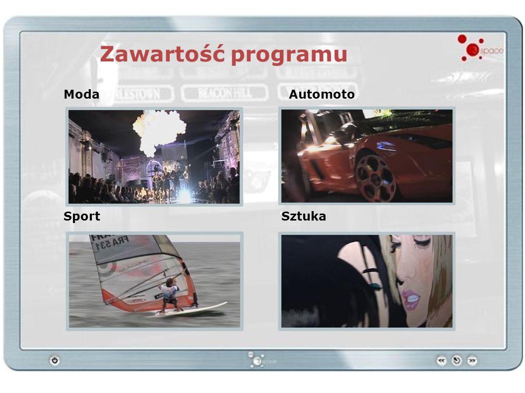 Zawartość programu Moda Automoto Sport Sztuka