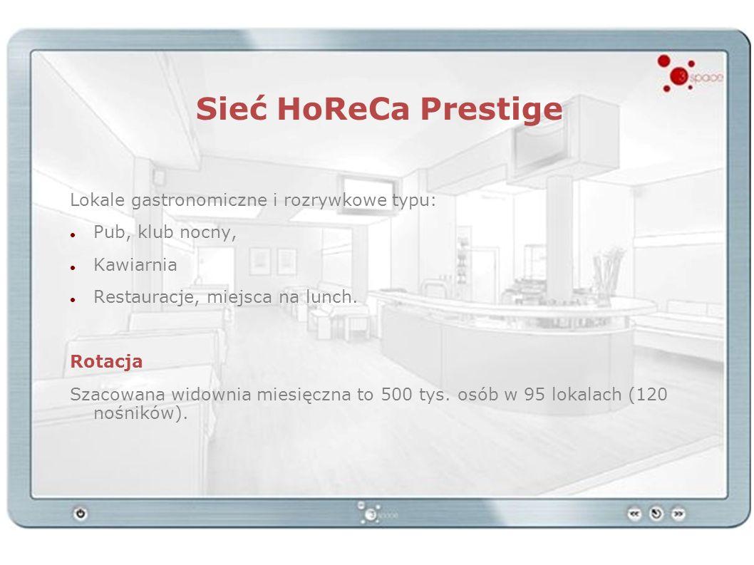 Sieć HoReCa Prestige Lokale gastronomiczne i rozrywkowe typu: