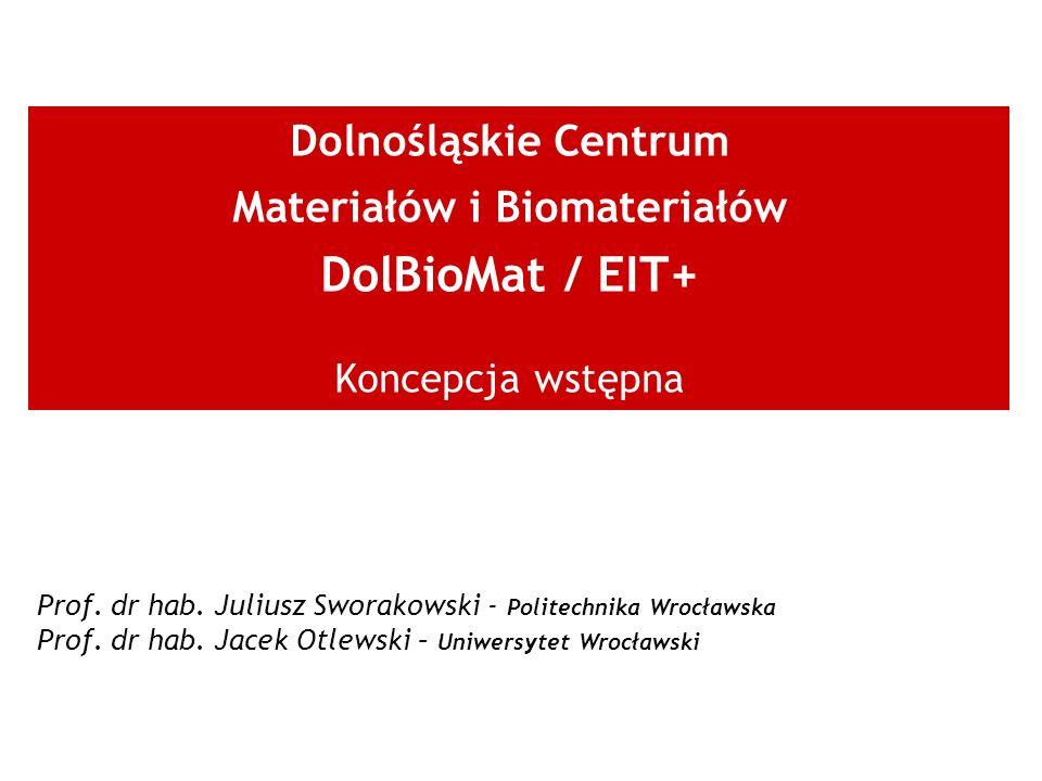 Dolnośląskie Centrum Materiałów i Biomateriałów DolBioMat / EIT+ Koncepcja wstępna