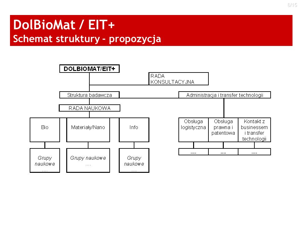 DolBioMat / EIT+ Schemat struktury - propozycja