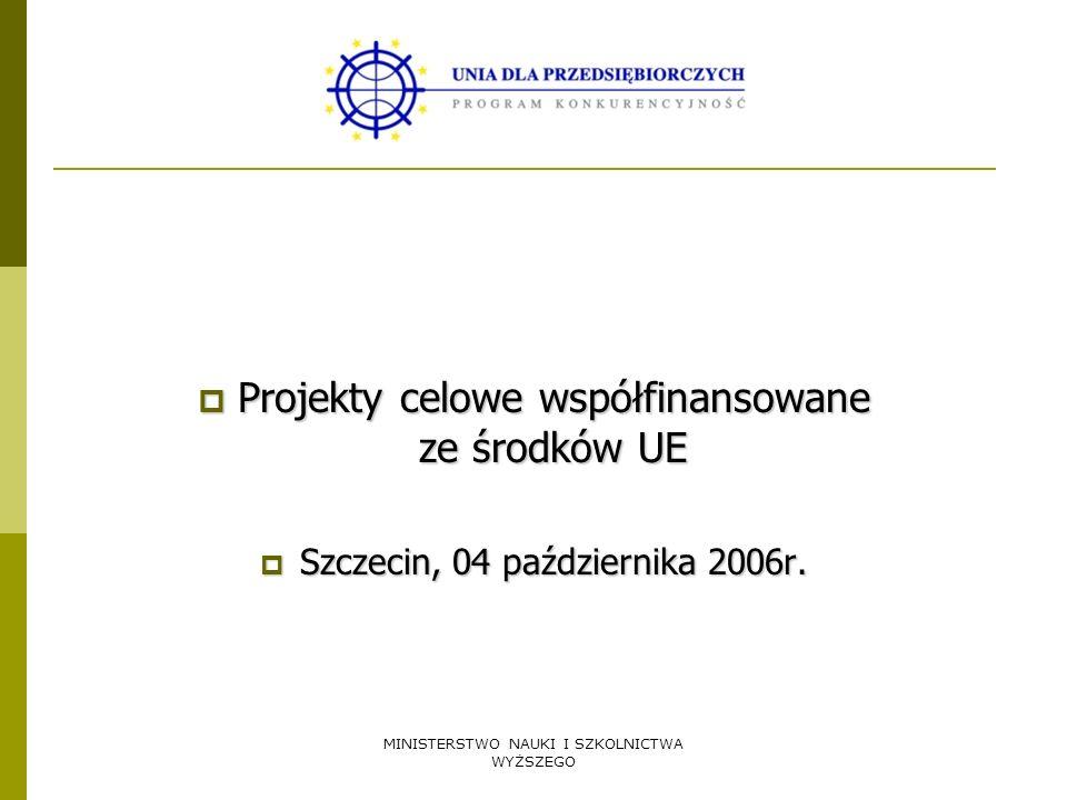 Projekty celowe współfinansowane ze środków UE