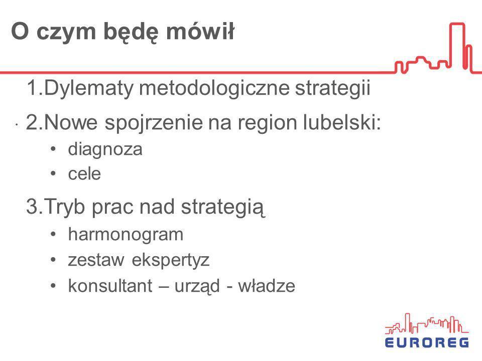 O czym będę mówił Dylematy metodologiczne strategii