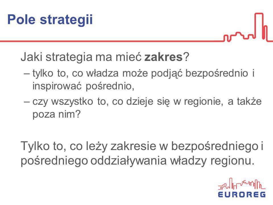 Pole strategii Jaki strategia ma mieć zakres