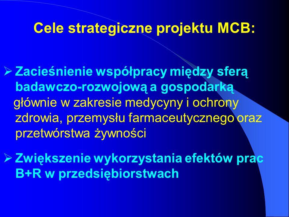 Cele strategiczne projektu MCB: