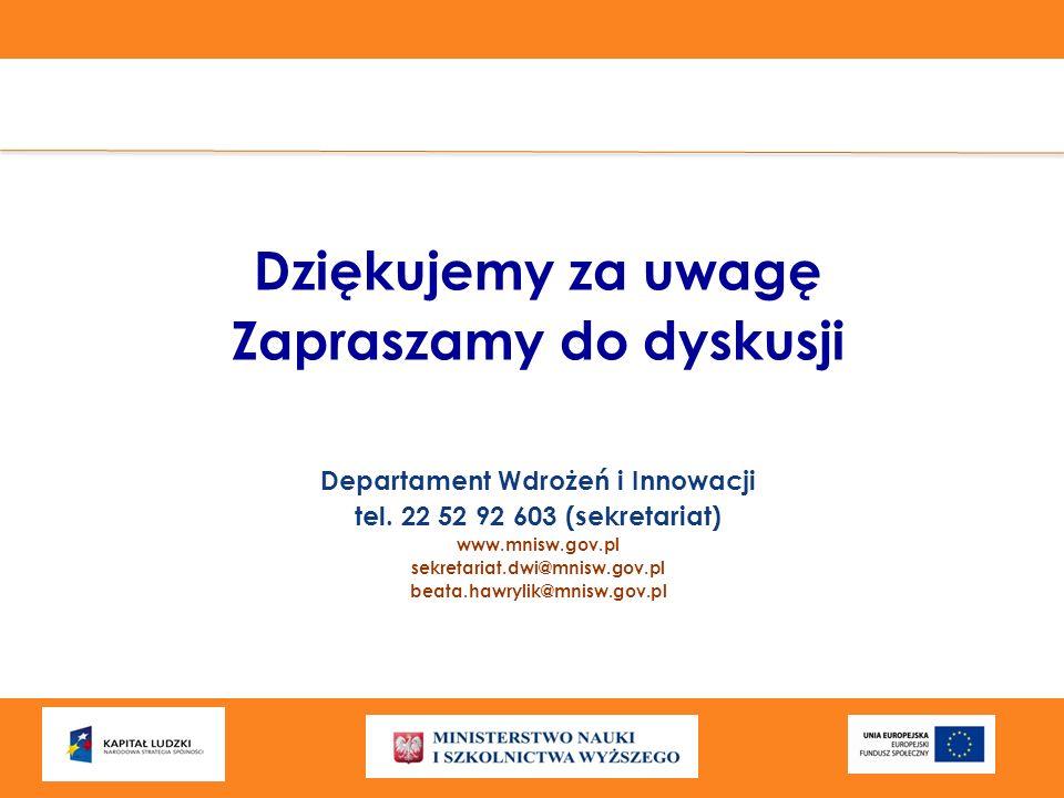 Zapraszamy do dyskusji Departament Wdrożeń i Innowacji