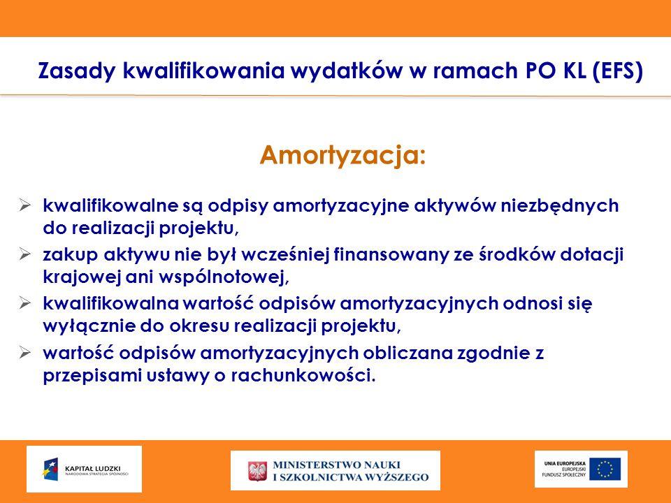 Zasady kwalifikowania wydatków w ramach PO KL (EFS)