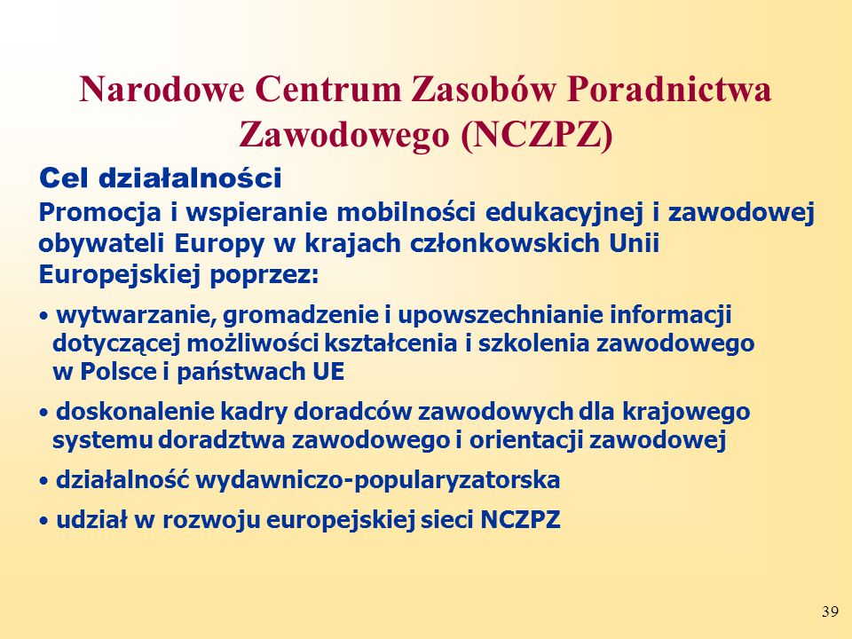 Narodowe Centrum Zasobów Poradnictwa Zawodowego (NCZPZ)