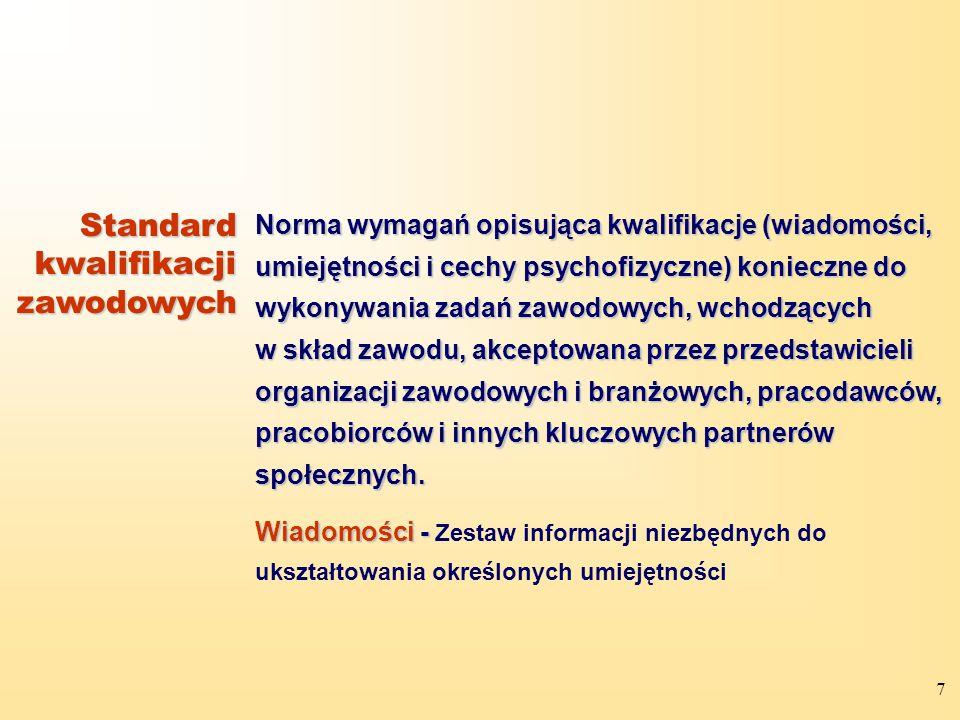 Standard kwalifikacji zawodowych