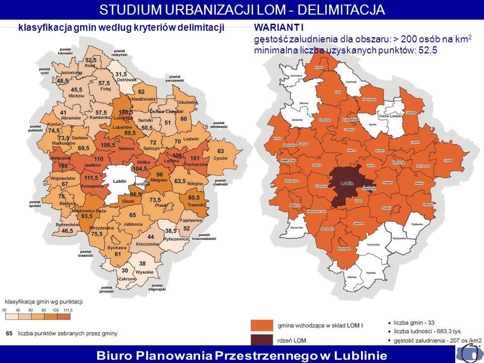 klasyfikacja gmin według kryteriów delimitacji