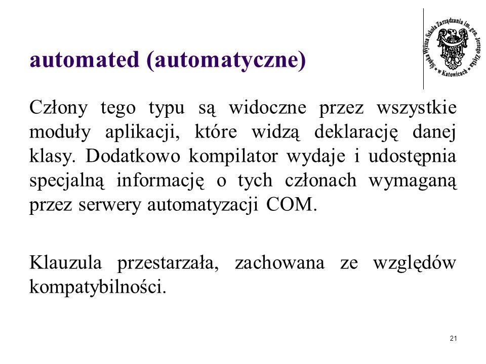 automated (automatyczne)
