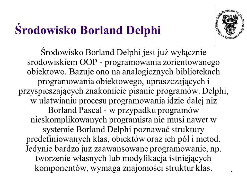 Środowisko Borland Delphi