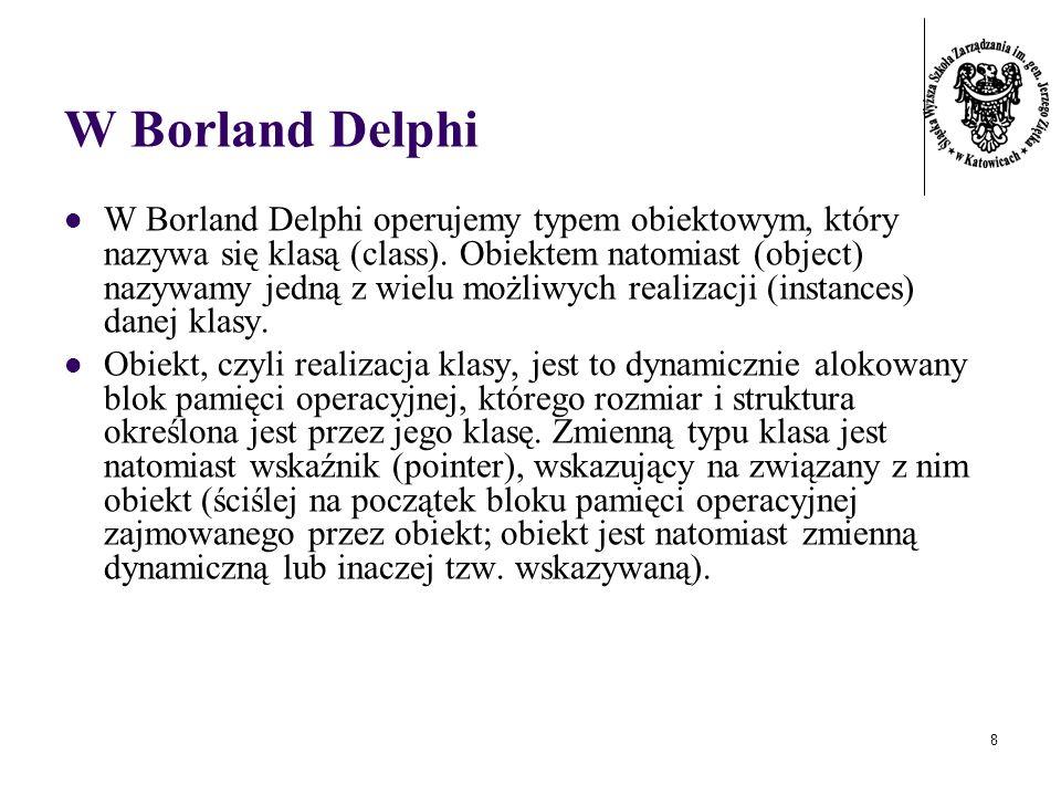 W Borland Delphi