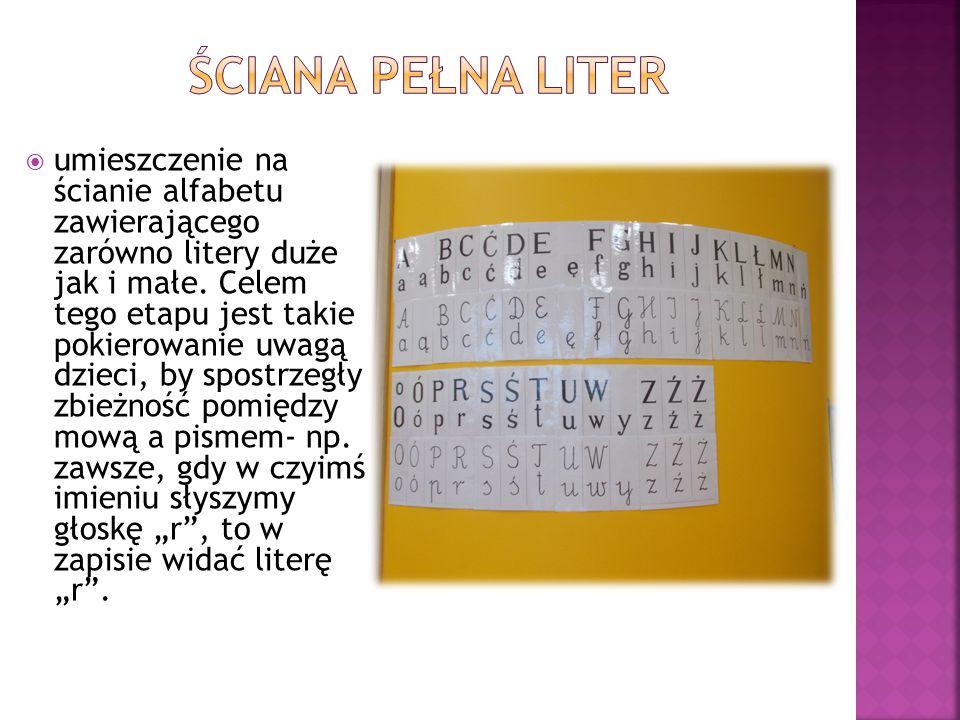 Ściana pełna liter