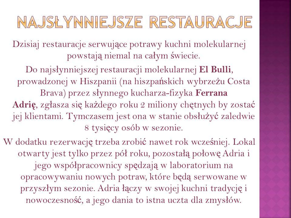 Najsłynniejsze restauracje