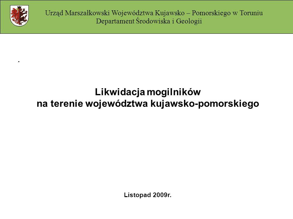 Likwidacja mogilników na terenie województwa kujawsko-pomorskiego