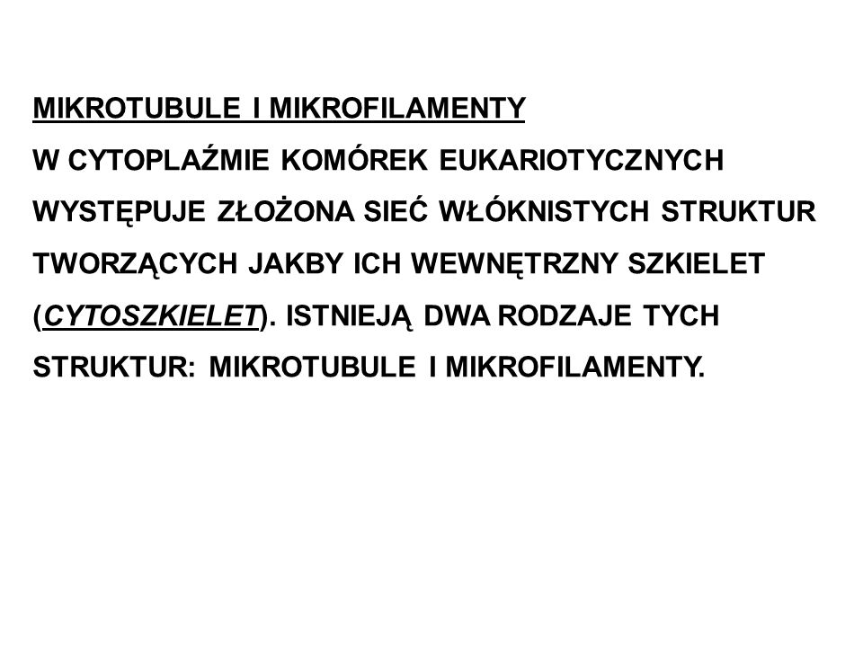 MIKROTUBULE I MIKROFILAMENTY