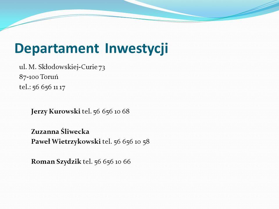 Departament Inwestycji