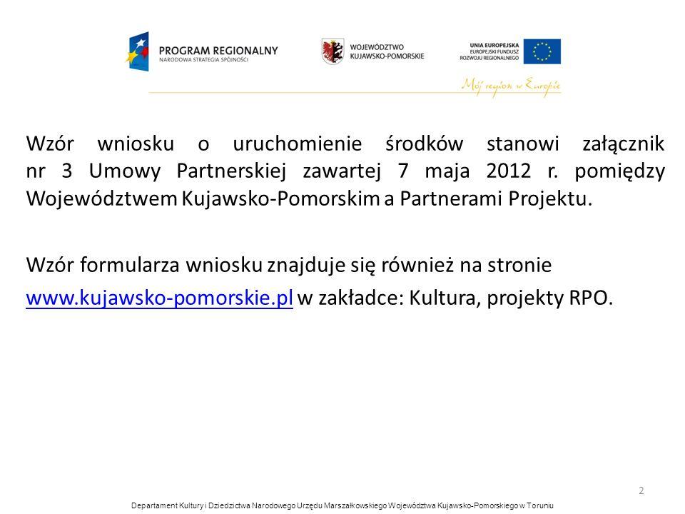 Wzór formularza wniosku znajduje się również na stronie