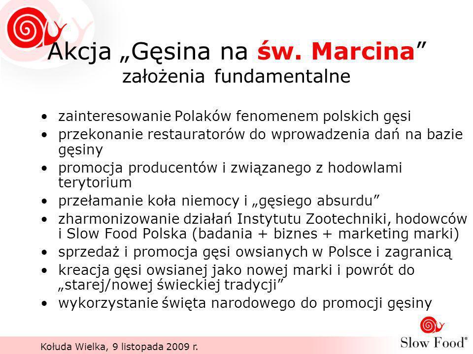 """Akcja """"Gęsina na św. Marcina założenia fundamentalne"""