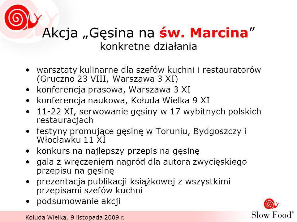 """Akcja """"Gęsina na św. Marcina konkretne działania"""