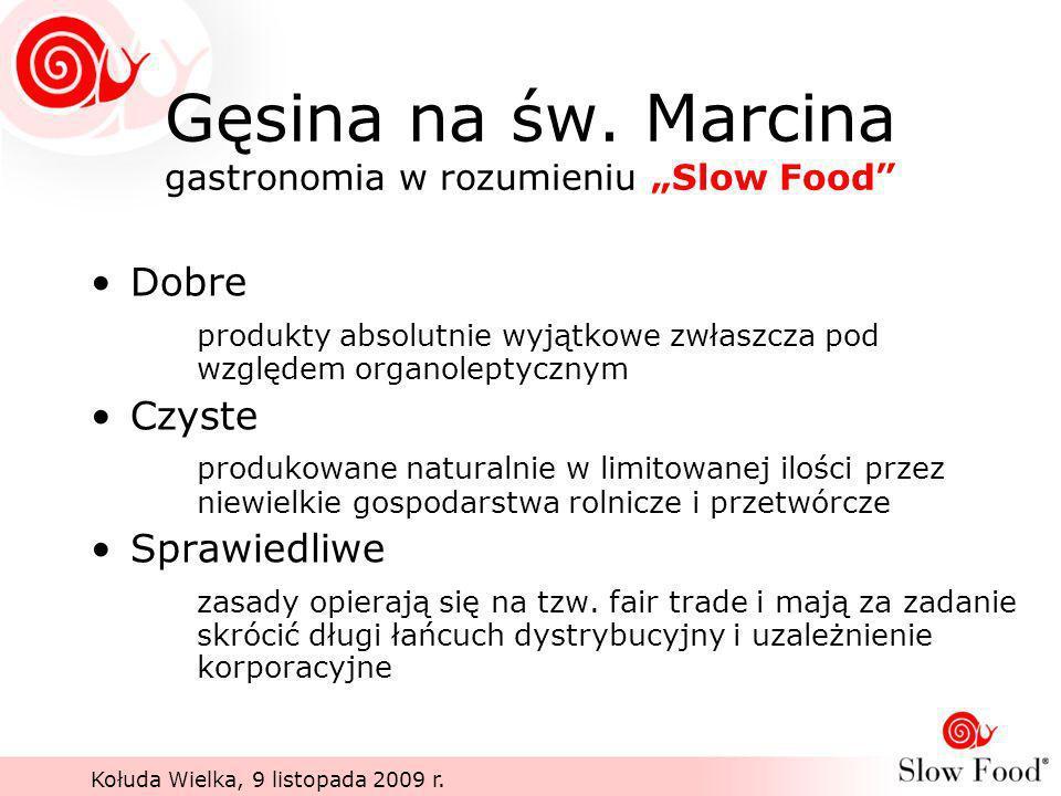 """Gęsina na św. Marcina gastronomia w rozumieniu """"Slow Food"""