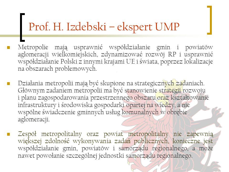Prof. H. Izdebski – ekspert UMP