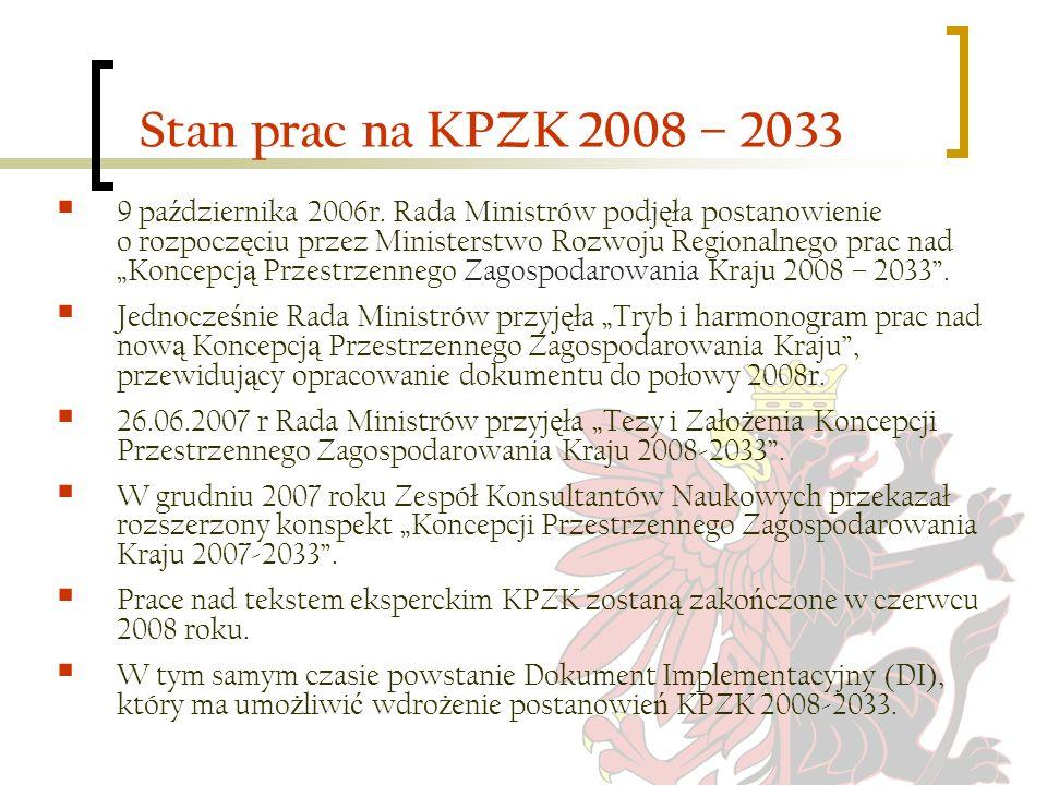 Stan prac na KPZK 2008 – 2033