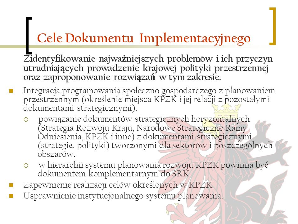 Cele Dokumentu Implementacyjnego